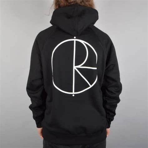 polar skateboards stroke logo pullover hoodie black skate clothing from skate store uk
