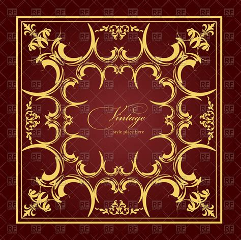 Wedding Album Design Vector Free by Square Frame With Vintage Ornament Wedding Album