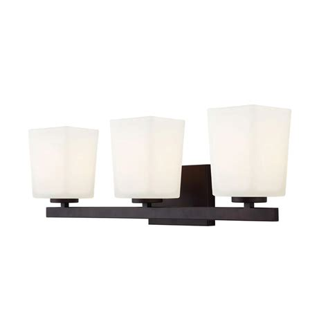 canarm 3 light rubbed bronze vanity light with