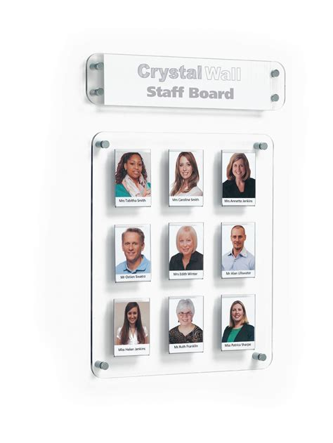 picture display board staff and student photo display board 9 pockets clear