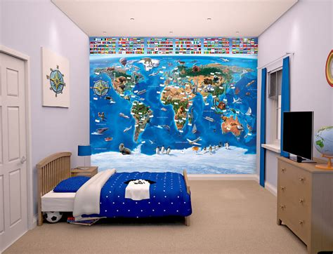 map of the world wall mural walltastic map of the world wall mural bubs n grubs
