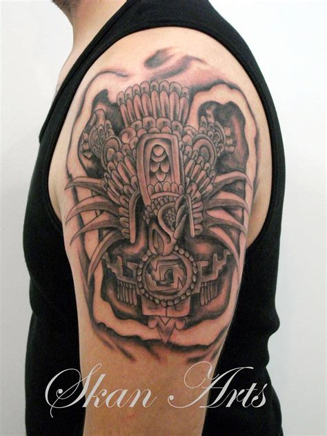 tattoos on upper arm for men aztec tattoos and designs page 249