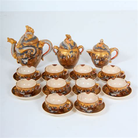 Dining Room Tables For Small Spaces satsuma dragonware tea set vancouver antiques amp vintage