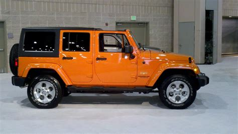 Jeep Orange Orange 2013 Jeep Wrangler 4 Door Ride