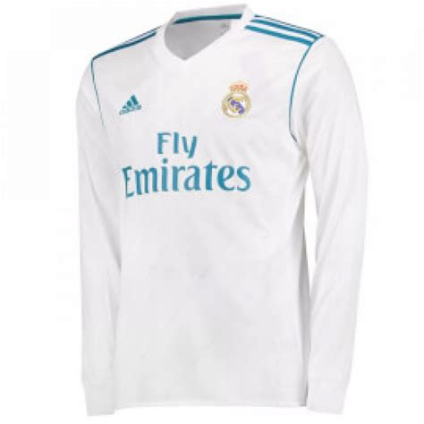 Real Shirt real madrid 2017 2018 home sleeve shirt b31106