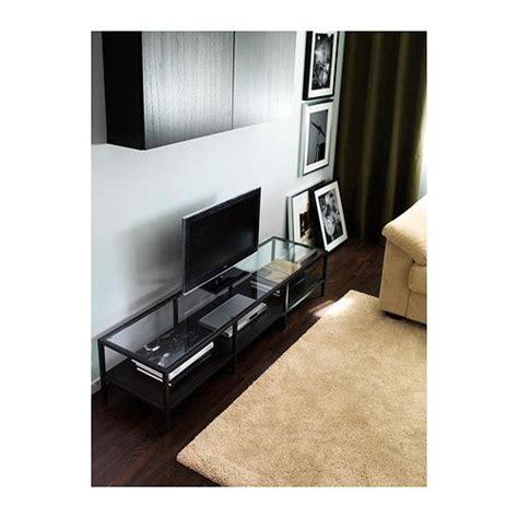 vittsjo tv unit black brown glass furniture source