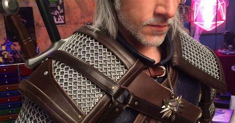found matthew mercer as geralt of rivia cosplay http