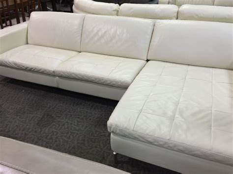 cream leather chaise cream leather sofa with chaise able auctions