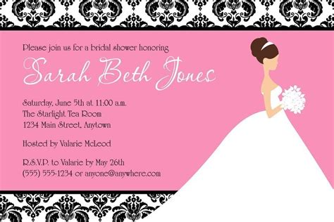 printable wedding shower invitations online bridal shower invitations free editable bridal shower