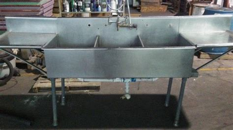 3 bay stainless steel sink 3 bay stainless steel sink 289316 for sale used