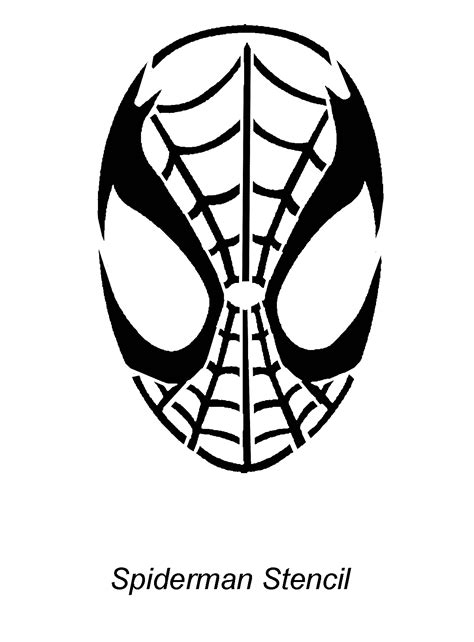 spider man carving pattern spiderman face template cliparts co