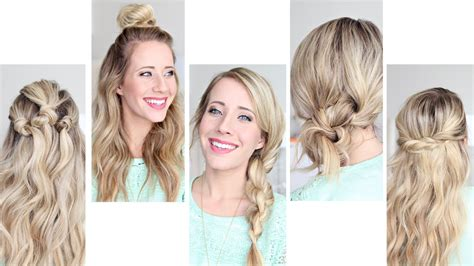 Easy 5 Minute Hairstyles by Five Easy 1 Min Hairstyles Hairstyles