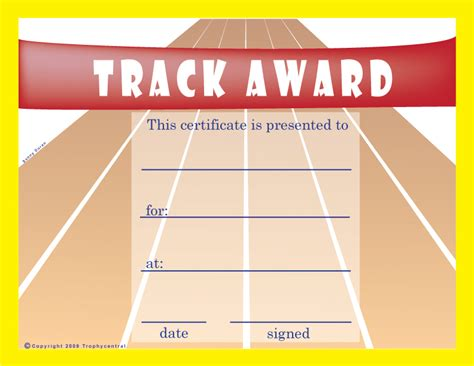 track and field certificate templates free image gallery track certificates