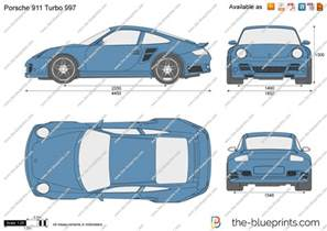 Porsche 997 Turbo Dimensions The Blueprints Vector Drawing Porsche 911 Turbo 997