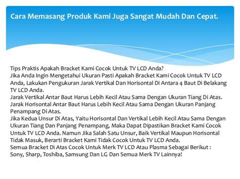 Bracket Tv Lcd Led Plasma Bandung 0896 7100 0771 harga bracket standing tv lcd bandung