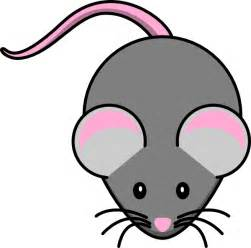 pink grey mouse clip art clker vector clip