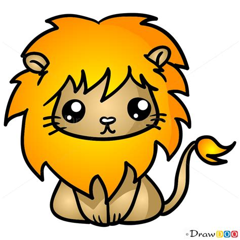 How to draw lion chibi how to draw drawing ideas draw something