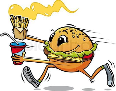 running hamburger stock vector colourbox