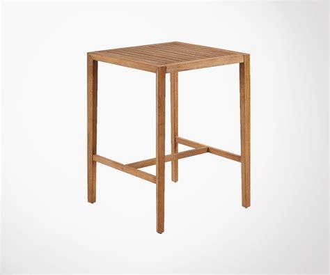 Table Haute Bois Massif by Table Haute Carr 233 E Bois Massif Int Ext 80x80cm