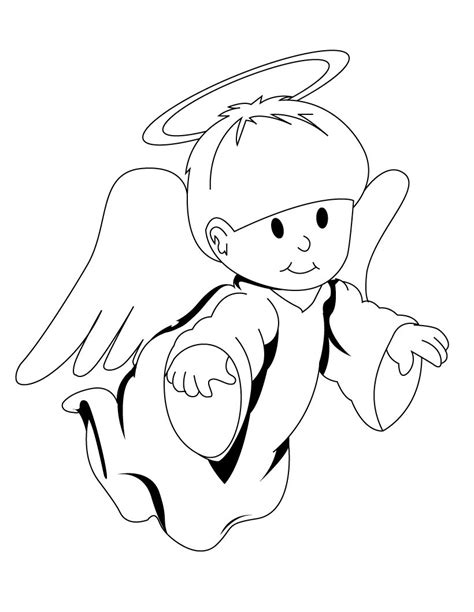 preschool coloring pages angels angel coloring page for preschool coloring page pedia