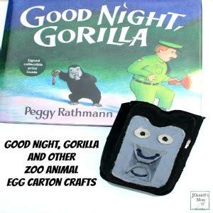 libro good night gorilla goodnight gorilla and other zoo animal egg carton crafts