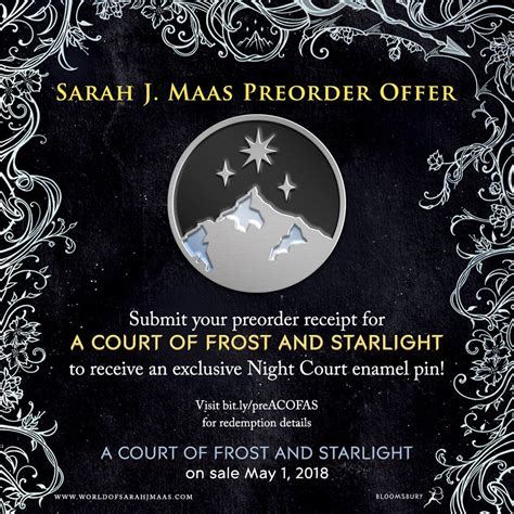 a court of frost bloomsbury preorder a court of frost and starlight to receive a free enamel pin