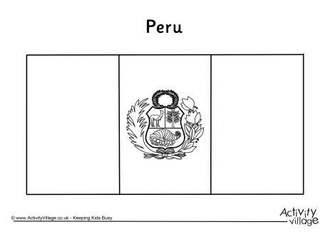 bandera de peru coloring pages peru flag colouring page