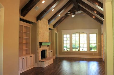 vaulted ceiling beams living room with vaulted ceiling and wood beams dream