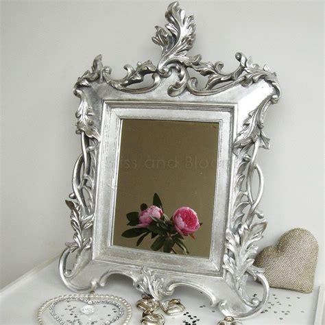 baroque bathroom mirror silver baroque mirror bliss and bloom ltd