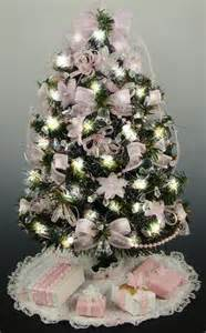 small mini tabletop christmas tree baby pink decorations
