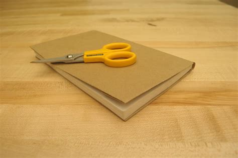 How To Make A Book Cover With A Paper Bag - how to make a book cover