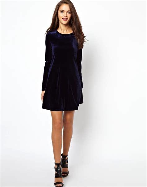 glamorous swing dress glamorous glamorous velvet swing dress at asos