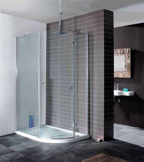 Modern Bathroom Shower Contemporary Minimal Enclosure From Simpsons Grey Tile Modern Bathroom Simpsons Design Semi
