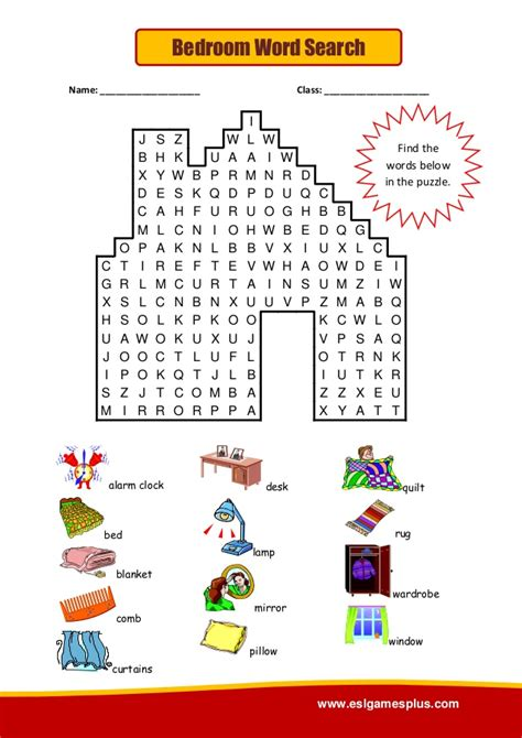 word for bedroom bedroom wordsearch puzzle