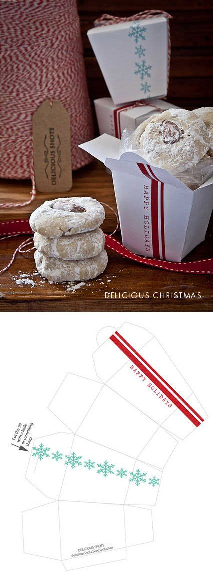 templates for cookie boxes cookie box printable templates and templates on pinterest