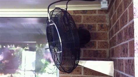 outdoor wall fan for patio misting fan patio mistech high pressure misting
