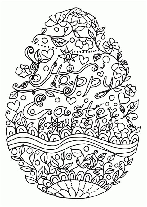 free printable easter coloring pages for adults easter coloring pages for adults coloring home