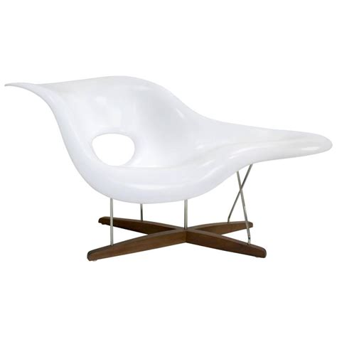 la chaise chair eames vitra white la chaise chair at 1stdibs