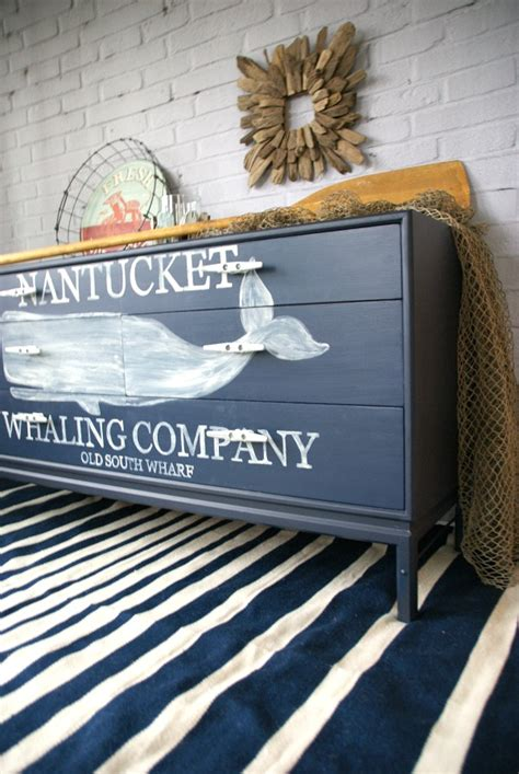 Nautical Couches by Nautical Whale Dresser Themed Furniture Makeover Day