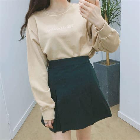 A Line Pleated Mini Skirt a line pleated mini skirt mixxmix shop korean fashion