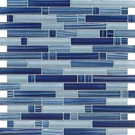 zen cobalt blue blend 12 x 12 glass mosaic tiles