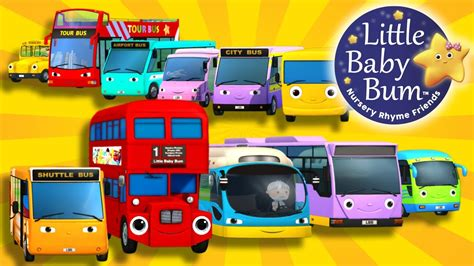 bysabys bys a bys bus song ten little buses nursery rhymes by