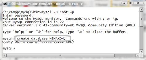 langkah membuat database menggunakan xp melalui command prompt rhiyu serardi contoh pembuatan database melalui command