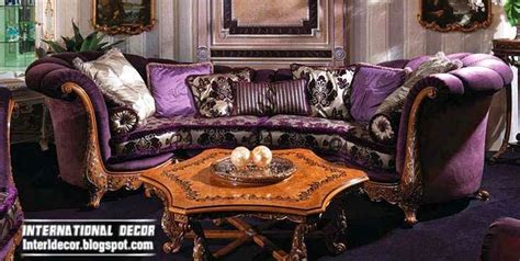 living room with purple sofa interior and architecture luxury purple furniture sets