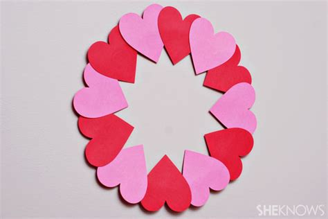 craft paper hearts simple crafts seniors