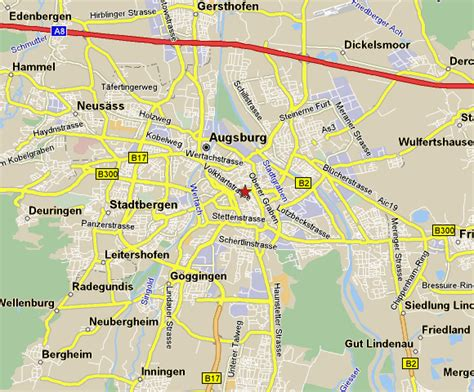 map augsburg germany augsburg map