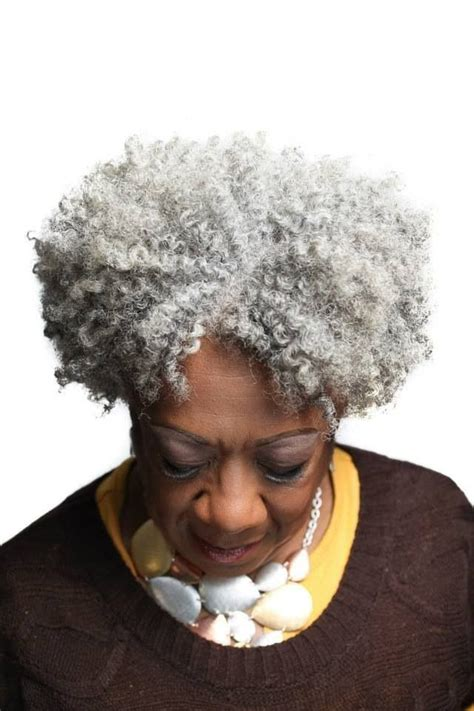best perm for gray hair lovely gray natural hair kinky curly pinterest gray