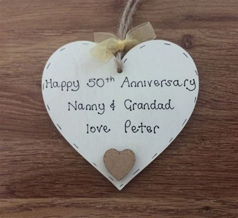 50th Wedding Anniversary Gifts Grandparents by Personalised Gift For Grandparents 50th Golden Wedding