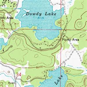 map of cgrounds in colorado dowdy lake cground co