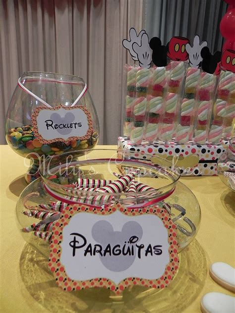 disney mickey mouse themed birthday party dessert table disney  day